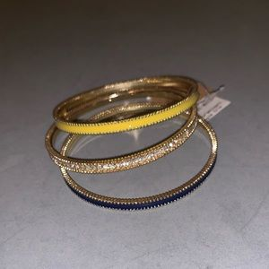 Jewelry - Gold and Blue Bangles